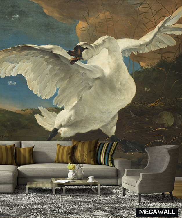 The Threatened Swan - Wallcover