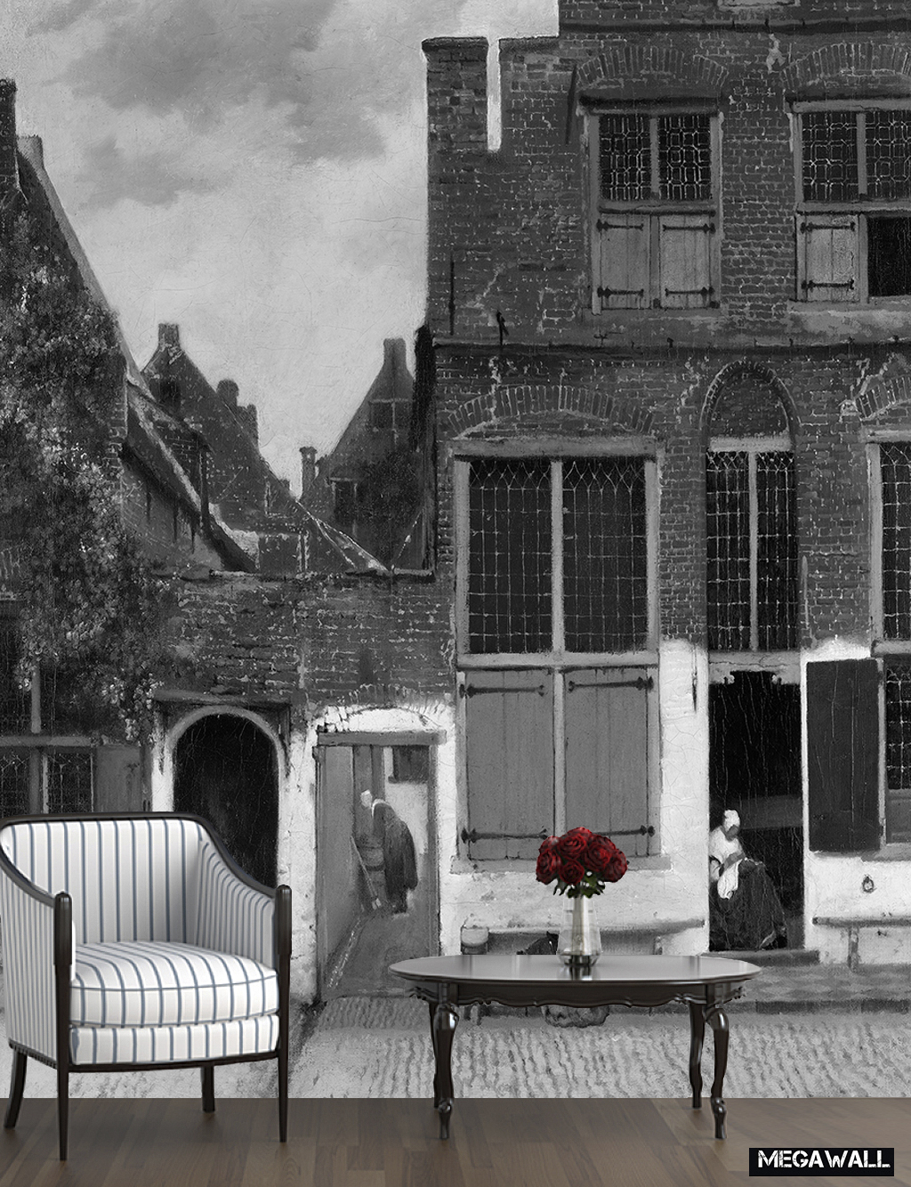 The Street by Johannes Vermeer - Wallpaper