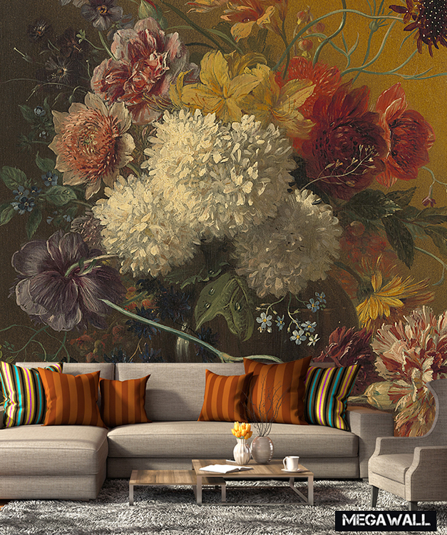 Still life with Flowers 2 - Wallcover