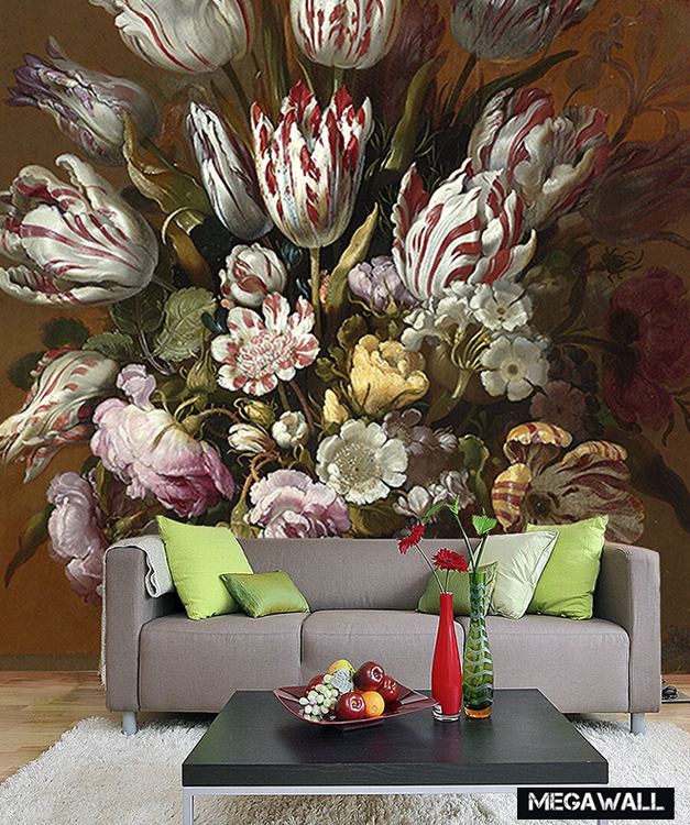 | Still life with flowers 3 - Wallcover