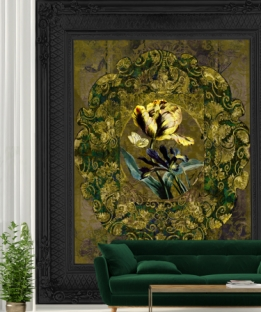 Wallpaper Jardin #160928 Framed