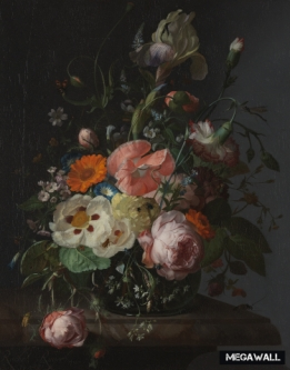 Still life with flowers 4 - Wallcover
