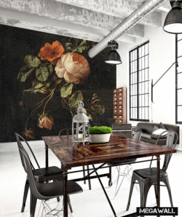 Still life with roses - Wallcover