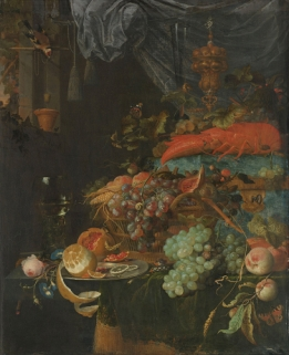Still Life with Fruit and a Goldfinch