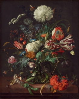 Vase with Flowers - Wallcover