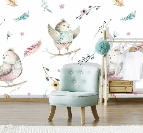 Bird Song  - Mural Blue