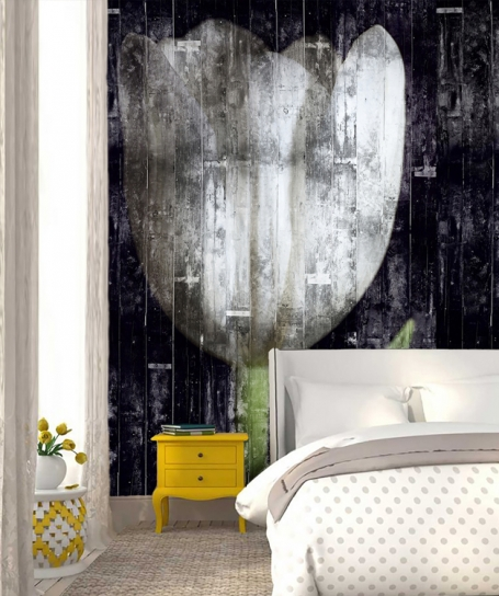 Wallpaper Wooden Tulip (Mural)